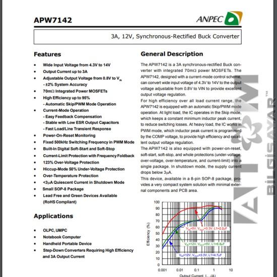 APW7142 ANPEC ENTEGRE