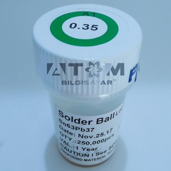 0.35mm 250K Kurşunlu Lehim Topu